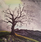 Tree Roots Paintings - Changing Horizons by Laura Moreland