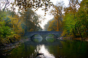 Fairmount Park Prints - Changing Leaves at Bells Mill Road Bridge Print by Bill Cannon
