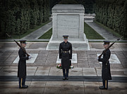 Changing Of The Guard Framed Prints - Changing of the Guard at the Tomb of the Unknowns Framed Print by Martin Belan