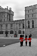 Changing Of The Guard At Windsor Castle Print by Lisa Knechtel