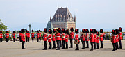 Castles Prints - Changing of the Guard The Citadel Quebec City Print by Edward Fielding