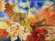 Acorn Paintings - Changing of the Seasons by Ellen Levinson