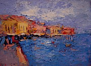 Crete Painting Originals - Chania Crete by R W Goetting