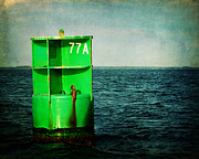 Channel Metal Prints - Channel Marker 77A Metal Print by Rebecca Sherman