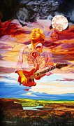 Jimi Hendrix Paintings - Channeling the Cosmic Goo at the Gorge by Joshua Morton