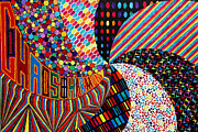 Op Art Paintings - Chaos and Harmony by Sean Ward