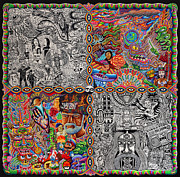Trippy Painting Metal Prints - Chaos Culture Jam Metal Print by Chris Dyer