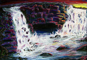 Waterfalls Paintings - Chaos Falls by Gloria Koch