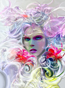 Surreal Fairy Tale Flora Print by Jaimy Mokos