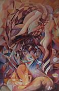 Chaos Management Or Adolf And Eva Print by Mikhail Savchenko