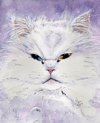 Persian Cat Paintings - Chaos by Marie Stone Van Vuuren