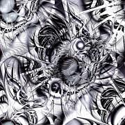 Chaotic Space Print by Anastasiya Malakhova