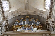 Gold Metal Prints - Chapel at Les Invalides - Paris France - 01133 Metal Print by DC Photographer