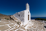 Ios Framed Prints - Chapel in Ios island Framed Print by George Atsametakis