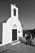 Hill Top Village Prints - Chapel in Serifos island Print by George Atsametakis