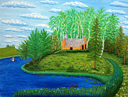 Masterpiece Originals - Chapel In The Middle Of The Lake by Vilija Masaitis