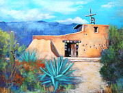 Tucson Arizona Pastels Acrylic Prints - Chapel In The Sun 3  Acrylic Print by M Diane Bonaparte