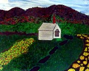 Kiwi Art Originals - Chapel in the Wairarapa Region by Patricia Pye