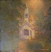 Kylie Sabra Prints - Chapel in the Wood Print by Kylie Sabra