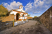 Wedding Chapel Posters - Chapel of Castelo de Vide Poster by David Letts