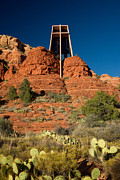 Sedona Framed Prints - Chapel of the Holy Cross at Sedona Framed Print by Douglas Barnett