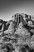 Rock  Pyrography - Chapel of the Holy Cross of Sedona by Doug Barnett