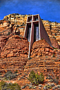 Red-rock Country Prints - Chapel of the Holy Cross  Sedona Arizona Print by Jon Berghoff