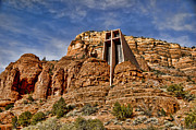 Red-rock Country Prints - Chapel of The Holy Cross Sedona AZ Print by Jon Berghoff