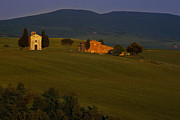 Country Scene Photo Prints - Chapel on a Hillside Print by Andrew Soundarajan
