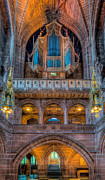 Liverpool Digital Art Prints - Chapel Organ Print by Adrian Evans