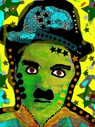 Silent Movie Star Mixed Media - Chaplin 2 by David Rogers