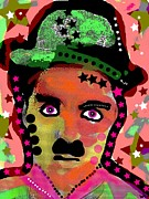 Silent Movie Star Mixed Media - Chaplin by David Rogers