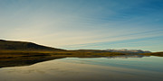 Mountain Reflection Prints - Chapman Lake Dempster Highway Print by Priska Wettstein
