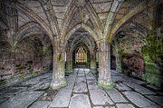 North Wales Digital Art Acrylic Prints - Chapter House Interior Acrylic Print by Adrian Evans