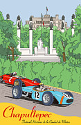 Rally Prints - Chapultepec Mexico Grand Prix Print by Nomad Art And  Design