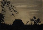 Charcoal Landscape Print by Shimaa Hozayn