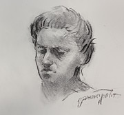 Boston Drawings - Charcoal portrait sketch by Ernest Principato