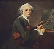 Young Man Framed Prints - Chardin, Jean Baptiste Siméon Framed Print by Everett
