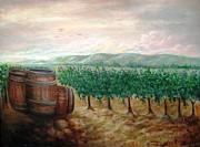 Wine Barrel Paintings - Chardonnay Spring by Dominic Giglio