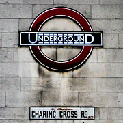 Charing Cross Framed Prints - Charing Cross Road London Framed Print by John Hastings