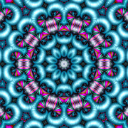Repeat Patterns Digital Art Posters - Charisma Poster by Wendy J St Christopher