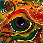 Visionary Art Painting Prints - Charismatic Spirit Eye Print by Deborha Kerr