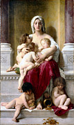 Old Masters Posters - Charity Poster by William Bouguereau
