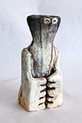 Figurative Sculpture Sculptures - Charlatan No. 2 by Mark M  Mellon