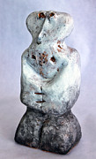 Plaster Sculpture Sculptures - Charlatan No. 3 by Mark M  Mellon