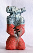 Primitive Art Sculpture Prints - Charlatan No. 4 Print by Mark M  Mellon