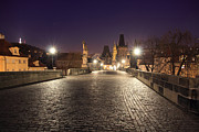 Karluv Most Prints - Charles Bridge at Dawn Print by Luca Grilli