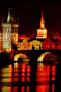 Prague Digital Art Prints - Charles Bridge Print by John Galbo