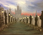 Charles Bridge Originals - Charles bridge Prague by Les Duffy