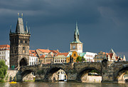 Dramatic Light Framed Prints - Charles Bridge Prague Framed Print by Matthias Hauser
